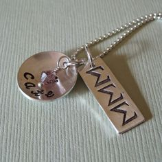 Don't know why I never thought of making a DSP stamped necklace until now?!