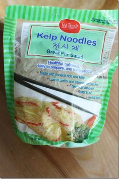 I have heard alot about Kelp Noodles but have yet to try! Kelp Noodle How to Prepare and Serve Kelp Noodles Raw Food Recipes, Low Carb Recipes, Snack Recipes, Cooking Recipes, Healthy Recipes, Snacks, Kelp Noodles, Raw Vegan, Vegan Keto