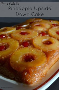 Pina Colada Pineapple Upside Down Cake | Real Housemoms | #summer #dessert
