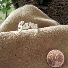 1 #Namensring mit #Wunschname in #925er #Silber, Buchstabenanzahl & Größe wählbar