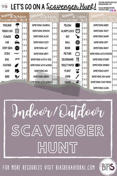 Scavenger hunts are not only fun, but they also teach a variety of skills, including working memory, scanning, and visual discrimination. Additionally, scavenger hunts increase problem-solving ability, promote teamwork, and are customizable to any age or ability.   Are you struggling to get your children outside, or even finding it difficult to keep them engaged on a rainy day? If so, grab this FREE Printable Scavenger Hunt.