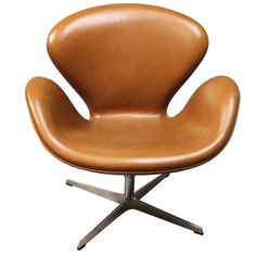 Swan Chair, Model 3320, by Arne Jacobsen and Fritz Hansen, 1958 | From a unique collection of antique and modern lounge chairs at https://www.1stdibs.com/furniture/seating/lounge-chairs/
