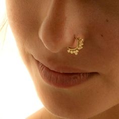 Asymmetrical Solid Gold Nose Ring, Tribal Septum Ring, Nose Piercing, fits all piercing locations: Nose Ring Jewelry, Gold Nose Rings, Toe Rings, Septum Ring, Bold Jewelry, Jewelry Tags, Trendy Jewelry, Etsy Jewelry, Fashion Jewelry