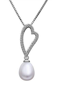 "Kayla ""Slim"" Pearl Pendant Necklace"