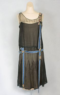 Premet silk chiffon party dress, c.1925