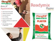 Ready Mix #Plaster is a pure gypsum based plaster suitable for most internal wall and partition surfaces including brick, block , cement and concrete - http://www.trimurtiproducts.com/ready-mix-plaster.php