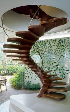 HELICAL stair, simple design -- for more dream home designs, visit my board http://pinterest.com/davidos193/dream-homes/