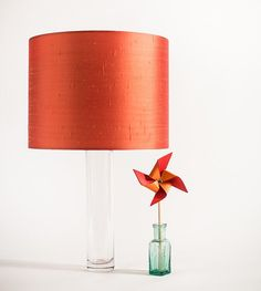 Orange Silk Dupion Drum Lampshade by ShadyandtheLamp on Etsy, Dublin, Drums, Table Lamp, Silk, Orange, Etsy, Home Decor, Lamp Table, Drum Sets
