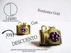NUEVAS REFERENCIAS !!! Pendientes Gold con el 30% de descuento !!! Ultimas referencias !!!!  Info:3123721833 Envíos a todo el país Bogotá-Colombia.