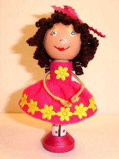 Molly the clothespin doll by VickysHeart on Etsy, $20.00