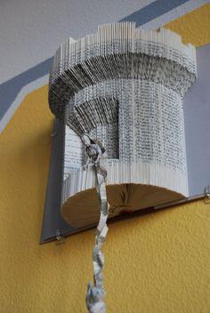 Rapunzel book sculpture. Altered book art.  #Tangled