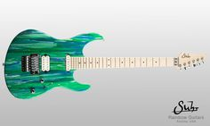 Suhr Custom guitar Instrument Specifications: Serial Number: JS8X0A Body Wood: Swamp Ash Neck Wood: Maple Finish: Aqua Sparkle Drip