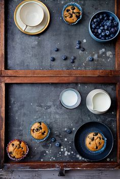 Blueberry Key Lime Tea Cakes via Tartelette