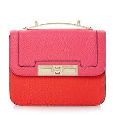 £55 DUNE ACCESSORIES DODDY - Colour Block Cross Body Mini Satchel Bag - red | Dune Shoes Online