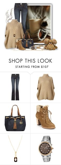 """""""Cosy Morning"""" by mwaldhaus ❤ liked on Polyvore featuring Disney, Hudson Jeans, MICHAEL Michael Kors, UGG Australia, Diane Von Furstenberg and Seiko"""