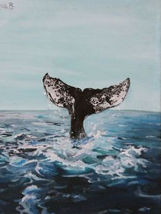 Whale of A Journey Original 12x16 Acrylic by AlyssaJeanDreamArt