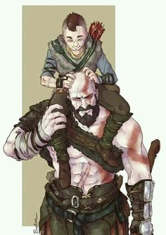 God of War - Fan Art - Happier Times with Kratos and Atreus Gow 4, Boy Meme, Kratos God Of War, Overwatch, Gaming Wallpapers, Norse Mythology, Geek Culture, Father And Son, Power Rangers