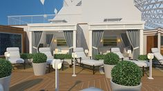 The Sanctuary on Royal Princess invites adults to relax in style.