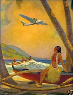 LARGE 20x24 Canvas CHINA CLIPPER Honolulu by VANGUARDGALLERY