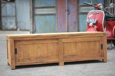 Teak Fernsehmöbel Schiebetüren 160 x 50 x 50 cm Teak Outdoor Furniture, Best Sellers, Indoor Outdoor, Recycling, Storage, Interior, Dreams, Top, Home Decor