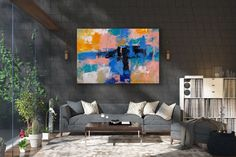 Large Abstract Painting,Modern abstract painting,art paintings,canvas custom art,abstract decor,original textured FY0100
