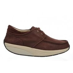 c61f61bfba18 Kheri Mahogany  Casual lace-up moccasins with the MBT ® movement advantage.  Washable