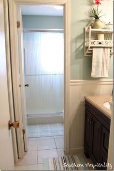 Tips on how to update a 1970s bathroom on a budget! You are not going to believe the changes made!  Southern Hospitality