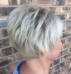 60 Gorgeous Gray Hair Styles - Hair styles for woman in their and later. Girls Short Haircuts, Short Layered Haircuts, Short Hairstyles For Women, Pixie Haircuts, Latest Hairstyles, Short Grey Hair, Short Hair With Layers, Short Hair Cuts For Women, Blonde Color