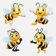 Little bee cartoon presenting Royalty Free Vector Image Cartoon Cartoon, Cartoon Drawings, Animal Drawings, Easy Drawings, Bee Crafts, Rock Crafts, Bumble Bee Tattoo, Bee Pictures, Funny Pictures