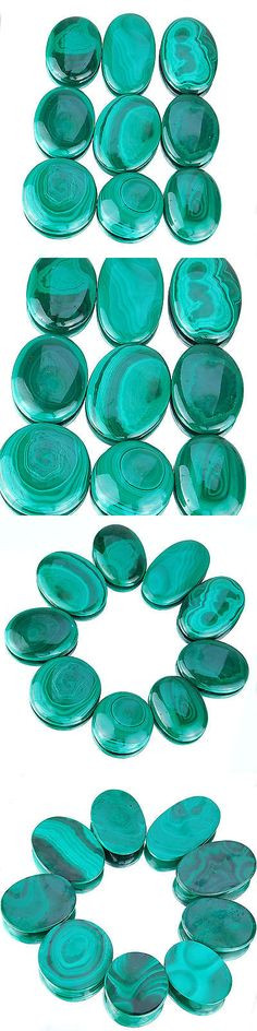 Malachite 10236: 864 Cts/9 Pcs Untreated Natural Malachite Aaa Finest Green Wholesale Gemstones BUY IT NOW ONLY: $48.74