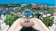 Best Water Park in the World, Tenerife, Spain. This Thai-themed water park offers surf lessons in the wave pool, which is capable of creating waves up to nine feet (three meters) high. Siam Park Tenerife, Surfing Tips, Costa, Island Theme, Wave Pool, World Water, Water Slides, Best Vacations, Oh The Places You'll Go
