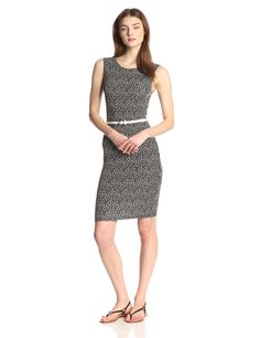 Helena Printed Sleeveless Dress with Belt by Tart Collections