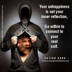 Your happiness is not something which is inside you and pops up when you do any act or your wish is fulfilled. You are embodiment of happiness. Your happiness is not about your reaction. For happiness you do not depend on any outer sources. That real You!!!