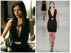Gostou do vestido preto da Margot (Maria Casadevall), de I Love Paraisópolis? É da Gloria Coelho. Preço: R$ 1.999,70. -