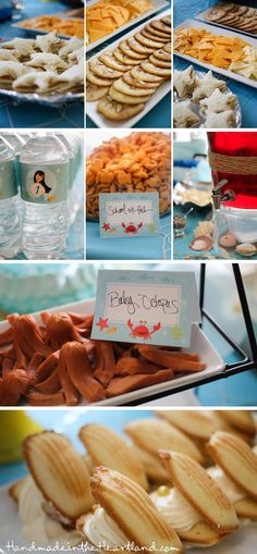 A Mermaid Birthday Party, party themed food