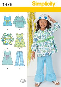 Simplicity Child's Dress, Top, Pants and Jacket 1476
