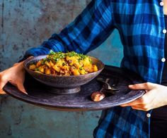 Kiwi lamb sausage, kumara and apple 'curry' By Nadia Lim Dinner Party Recipes, Lunch Recipes, Cooking Recipes, Healthy Recipes, Savoury Recipes, Healthy Dinners, Yummy Recipes, Healthy Food, Easy Meals