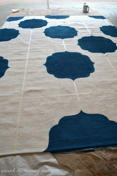 sarah m. dorsey designs: diy painted rug preview / almost there!