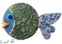 Polymer clay fish by Liat R, via Flickr