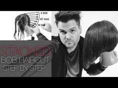 Layered Stacked Bob Haircut - How To Cut A Layered Stacked Bob - Step By Step - Q & Haircut - YouTube