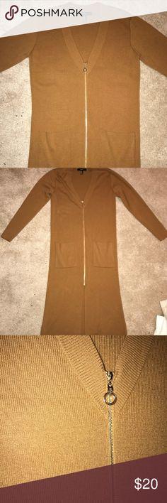 Forever 21 NWOT - Zip Front Boho Dress - Brown NWOT bcea6fb96dde4