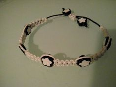 Macrame bracelet with pastic beads by BittersweetTrinkets on Etsy Macrame Bracelets, Etsy Shop, Beads, Beading, Bead, Loom Bracelets, Pearls, Ruffle Beading, Pony Beads