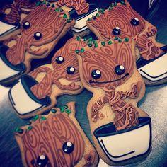 Dancing baby Groot cookies