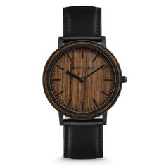FEATURES Natural Ebony Wood Bezel Real Ebony Wood Dial Ultra Sleek 40mm Case (316L Stainless Steel) Premium Black Italian Leather...
