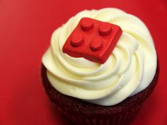 "https://flic.kr/p/5Zb6dG | Lego Cupcake | Red velvet cupcake made by my sister. See more of her work below: <a href=""http://flickr.com/photos/artofdessert/"">flickr.com/photos/artofdessert/</a>"