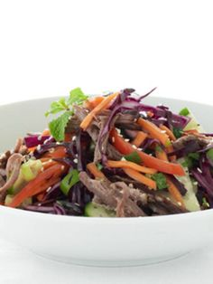 Spicy Thai Beef Salad, a healthy and refreshing recipe for a quick lunch or dinner.
