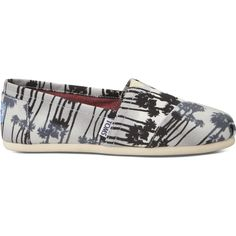 TOMS Grey Palm Trees Women's Classics