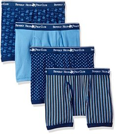 ee92e78d53 Beverly Hills Polo Club Men s 4 Pack Printed Boxer Brief at Amazon Men s  Clothing store