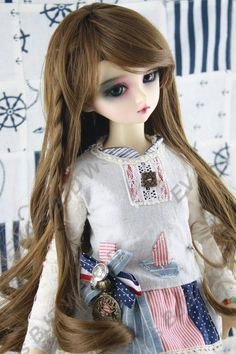 "Brand new 8-9"" 1/3 dollfie BJD SD LUTS hair wig  97-1#"