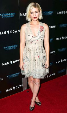 Kate Mara in Dior attends the 'Man Down' premiere in Hollywood. #bestdressed